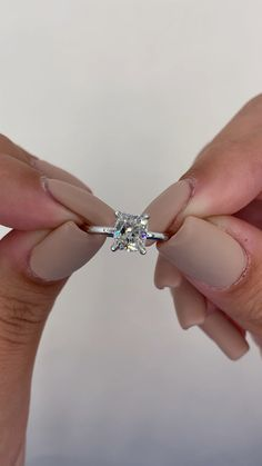 Cushion Cut Engagement Ring, Engagement Ring Styles, Diamond Engagement Rings, Solitaire Diamond, Diamond Rings, Bohemian Wedding Inspiration, Lace Bridesmaids, 1 Carat, Gifts For Boys