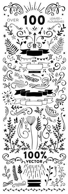 100+ Hand Drawn Vect