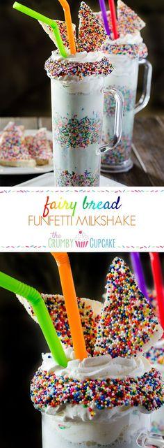 Fairy Bread Funfetti Milkshake