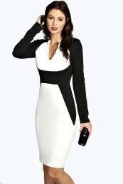 Kim Colour Block Midi Dress