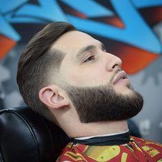 men taper fade haircuts with beard