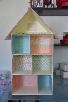 Miss Lacitos: Charming Dolls :: Doll House Diy Cardboard Furniture, Barbie Furniture, Dollhouse Furniture, Home Furniture, Cardboard Dollhouse, Cardboard Crafts, Diy Dollhouse, Dollhouse Miniatures, Doll House Plans