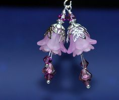 2 Amethyst Double Flower Vintage Style by RainandSnowBeading
