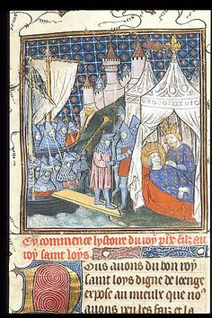 Death of Louis. Royal 20 C VII f. 1 Chroniques de France ou de St Denis. 1380-1400, France #14thcentury #france