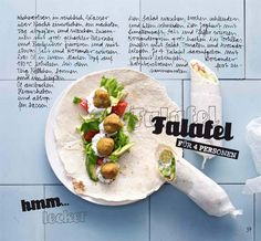 Selbstgemachte Falafel mit Weizentortillas-amicella