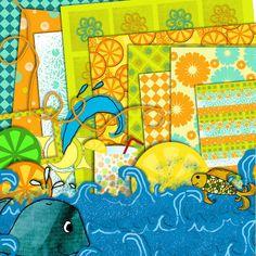 "Everyday Mom Ideas: ""Sun and Citrus"" Free Digital Scrapbooking Kit"