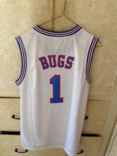 Bugs Bunny Size S Space Jam Tune Squad Basketball Jersey White shirt Sleeveless Tune Squad, Space Jam, Bugs Bunny, Basketball Jersey, Long Sleeve Tops, Shirts, Dress Shirts, Shirt