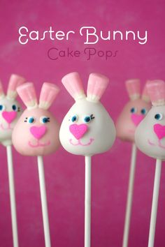 Make some BUNNY cake pops for Easter =) a cute and yummy idea! If you've never heard of cake pops before they are little balls of cake dipped in frosting on a stick- tasty.