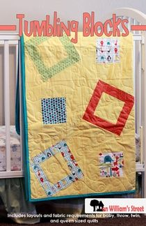 Tumbling Blocks - easy pieced quilt pattern.  Perfect for a layer cake.