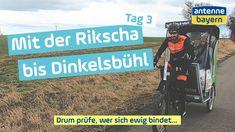 Von Ochsenfurt soll es an Tag 3 bis Dinkelsbühl gehen. Florian aus Ottobrunn möchte Eva und Max mit der Rikscha dort hinbringen. Aber Wind und Kälte machen dem Dreiergespann zu schaffen....  Jeden Tag eine neue Folge! Nichts verpassen und abonnieren. #vlog #videotagebuch #reise #bayern #hochzeit Florian, Ingolstadt, Voyage