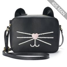 T-Shirt & Jeans Cat Whiskers Crossbody Bag