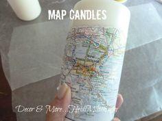 map candles diy