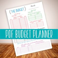 INSTANT DOWNLOAD printable budget planner organizer monthly diy pdf jpeg template family budget