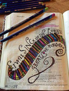 Psalm 89:1 Bible Journal Page by Lynn Shokoples