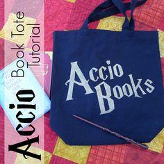 Pieces by Polly: Accio Books - Book Tote Tutorial - Happy Harry Potter Celebration