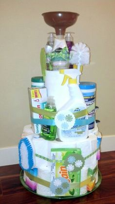 """House Warming """"Cake"""" I made with Dollar Store finds!"""