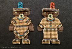 Thanksgiving Native Americans Plastic Canvas Cross by Hunibears