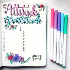 I'm keeping the pastel floral theme going for my April gratitude page! I don't usually set up my month using one theme, but I am really loving it so far! Do you guys like the colours together? A few of you asked me if I bought a pastel pack of markers, but I am actually just using some of the lighter colours from the larger #crayola supertips pack. #leuchtturm #leuchtturm1917