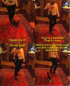 Taylor and her cat, Meredith