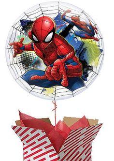 Large Bubble Spiderman Helium Balloon #SpiderMan #balloon #helium #Marvel Bubble Balloons, Helium Balloons, Bubbles, Spiderman Balloon, Gifts For Boys, Teddy Bear, Marvel, Superhero, Birthday