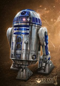 R2D2 Art by Shane Molina (goo.gl/ApAJQB) --------------------------------- Top-10 Star Wars art of November 2016: lightsabr.net/2016/12/star-wars-art-best-november-2016 More OT art here: lightsabr.net/tag/ot #StarWars #OriginalTrilogy #R2D2