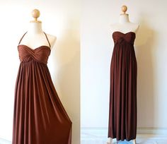Elegant Brown Evening Dress by pinksandcloset on Etsy, $55.00