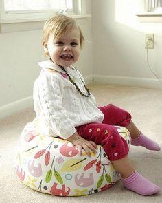 DIY Toddler Seating Pouf