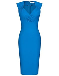 MUXXN Women's Petite Sleeveless Dress Cocktail Dress (Color Blue S): Size Information/b br br S:/b br br M:/b br br L:/b br br XL:/b br br br. Business Casual Attire, Business Dresses, Stylish Outfits, Cute Outfits, Fashion Outfits, Professional Outfits, Pencil Dress, Dress To Impress, Beautiful Dresses