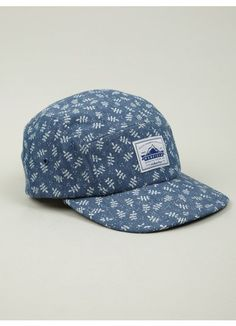 Mens Leaf Print Casper Five-Panel Cap 1e6d1ebe3d5e