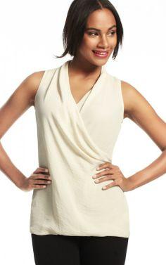 CAbi Print Wrap Top- Size S - Sale $39.50 | Cabi Sample Sale ...
