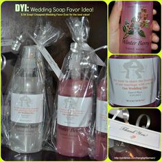 Wedding Soap Favor Idea! I looked all over the internet for an idea but nothing came up! There for.. DYI kicked in. I bought soap on sale from Christmas  $.54 each. Bought labels from staples, and tags from Party City. Bags from the dollar store and made my own  soap favors. I wanted favors my guest can actually use, and EVERYONE can use soaps. Yippie! I hope this helps! You can't beat a good sale!