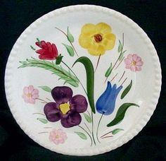 Southern Pottery, Erwin, Tennessee; Blue Ridge Dinnerware patterns - Mountain Nosegay