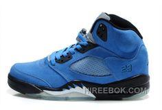free shipping 628a6 394f6 Air Jordan 5 Retro Suede True Blue Black Achat Pas Cher, Price   88.00 - Reebok  Shoes,Reebok Classic,Reebok Mens Shoes