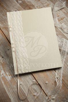 Sheer elegance wedding guest book