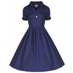 Claudette Blue Rockabilly Dress | Vintage Inspired Fashion - Lindy Bop
