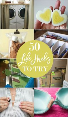 50 life hacks to try- lots of DIY ideas!
