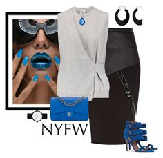 """NYFW  Contest"" by petalp ❤ liked on Polyvore featuring Bling Jewelry, River Island, Iris & Ink, Chanel and NYFW"