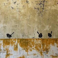 Felicia Aroney - I love this. The colours the composition, the birds. love the abstract painterly quality Gravure Illustration, Illustration Art, Gold Leaf Art, Encaustic Art, Bird Art, Painting Inspiration, Painting & Drawing, Art Projects, Contemporary Art