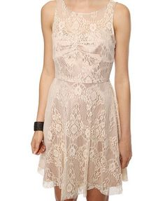 Lace Overlay Swing Dress | FOREVER21 - 2000039199