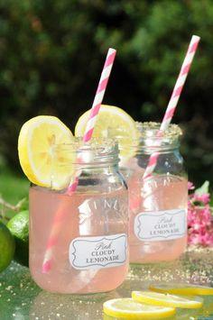 Jeito fofo de servir drink no verão. Drinks de verão. Drink no pote de compota. Drink no vidro.