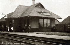 Railway stations in Lucan Ontario Canada Rail, Ontario, Architecture, Castle, Cottage, Cabin, House Styles, Places, Casa De Campo