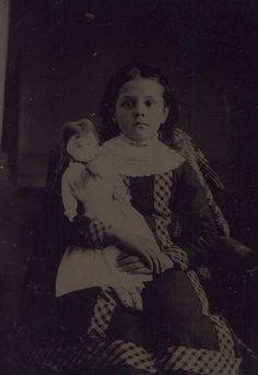 Young Girl with Big Doll by 19th Century Photographic Images, via Flickr