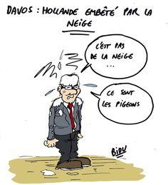 #Davos2015 - #Hollande embêté par la neige ... #OuPas :