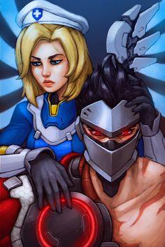 Overwatch Uprising - Mercy and Genji by FonteArt.deviantart.com on @DeviantArt - More at https://pinterest.com/supergirlsart #fanart