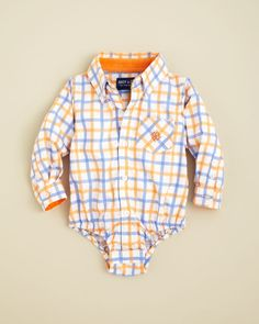 Andy & Evan Infant Boys' Check Shirtzie - Sizes 3-24 Months