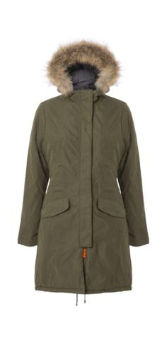 Parka cotton coat. Raw, stylish design. Long coat for women. Read more on our website!