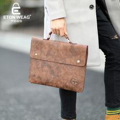 Cheap mens office bags, Buy Quality italian leather briefcase directly from China leather briefcases men Suppliers: ETONWEAG Brands Italian Leather Briefcases Men Laptop Bag Brown Luxury Business Briefcase Lawyer Laptop Bag Mens Office Bags
