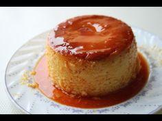 (70) steamed caramel custard pudding (basic measurement)--Food At Home - YouTube