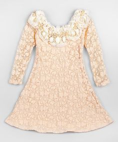 Look what I found on #zulily! Cream Lace Dress - Toddler & Girls by Mia Belle Baby #zulilyfinds