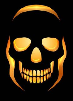 Another skull stencil for die-hard Halloween fans! If you loved our first Skull stencil, you are going to love this Scary Pumpkin Carving Patterns, Cute Pumpkin Carving, Disney Pumpkin Carving, Skull Pumpkin, Pumpkin Art, Skeleton Pumpkin, Disney Pumpkin Stencils, Halloween Pumpkin Carving Stencils, Pumkin Stencils